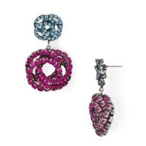 NIB DannijoCrystal earrings Anthropologie